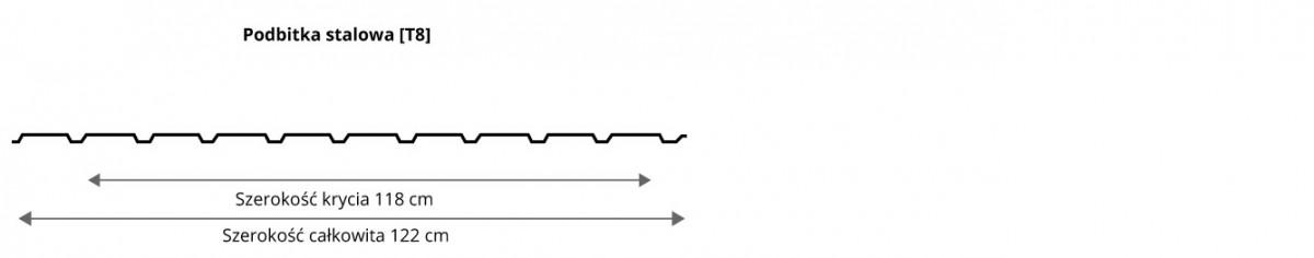 Podbitka stalowa [t8] - przekrój